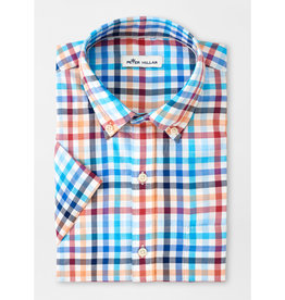 Peter Millar Peter Millar Galleon Cotton Short-Sleeve Sport Shirt