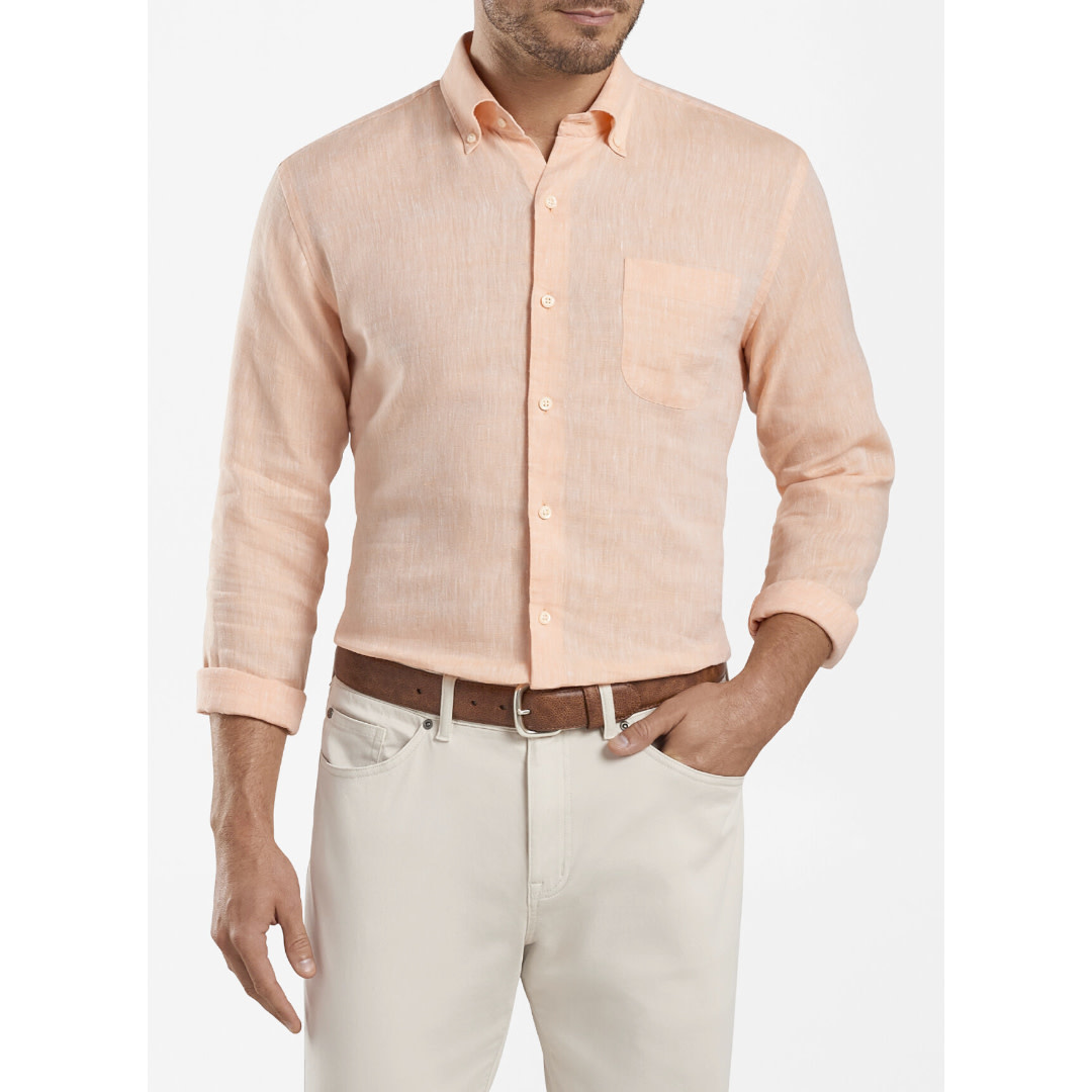 Peter Millar Peter Millar Crown Cool Sardinia Linen-Blend Sport Shirt