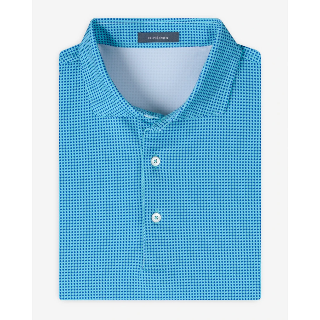 Turtleson Turtleson Kings Houndstooth Performance Polo