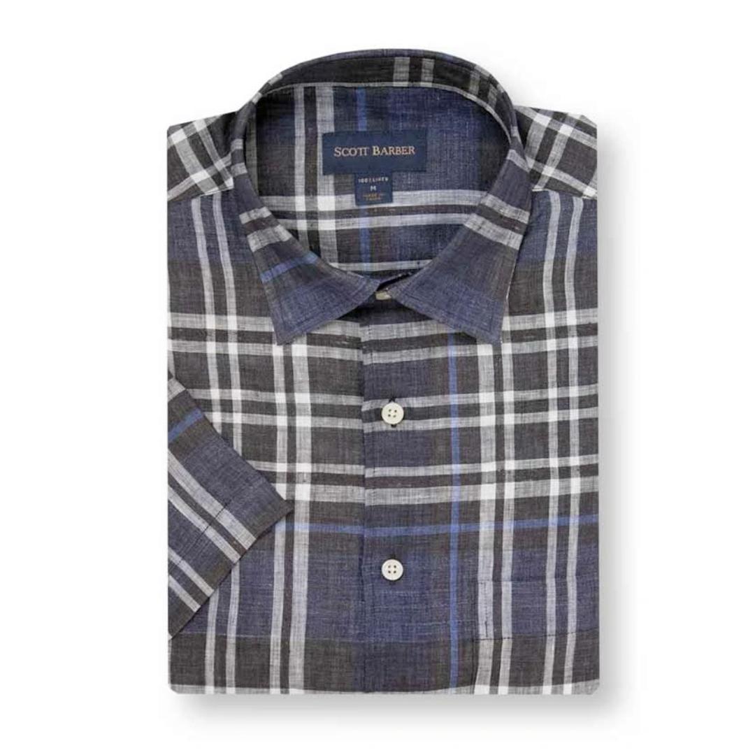 Scott Barber Scott Barber Linen Soft Spread Collar