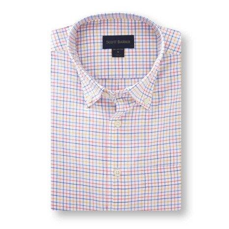 Scott Barber Essex Twill Multi Colored Check Shirt