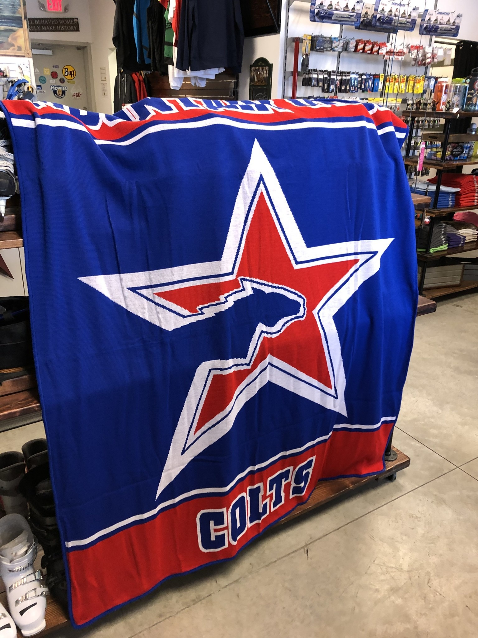 Hockey Blanket: Mountain View Colts