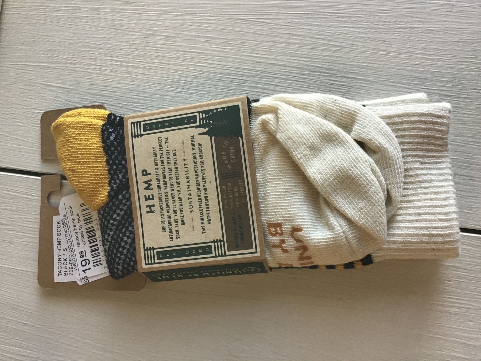 United By Blue Tacony Hemp Sock - UBB
