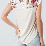 Cream Lovely Floral T-Shirt -  Twenty Second