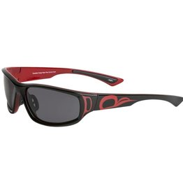 """Niko"" Red & Black Sunglasses - AYA"