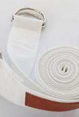 Mantra Dog Mantra D Ring Yoga Strap - (White)