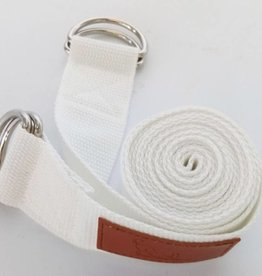 Mantra Dog Mantra D Ring Yoga Strap -  (White)