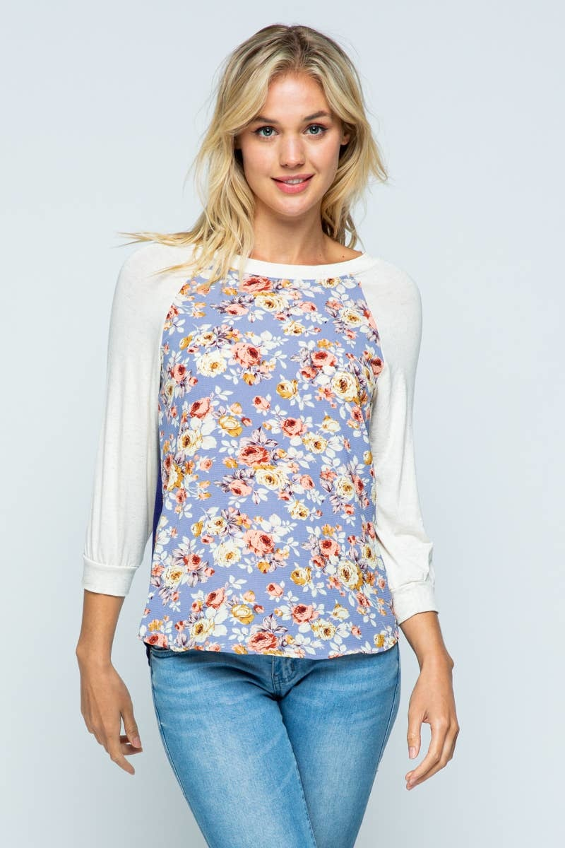 Twenty Second 3/4 Sleeve Floral Shirt