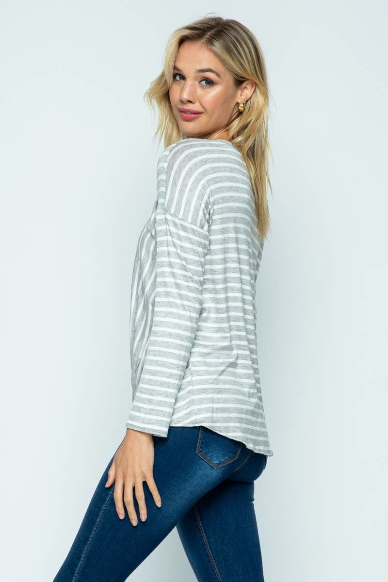 Twenty Second Twenty second stripe casual top