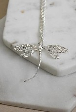 DRAGONFLY NECKLACE  WHIMSEY SILVER