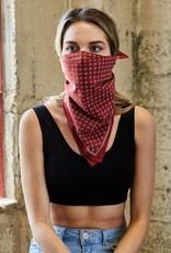 westbound clothing company rust daisy field flower bandana