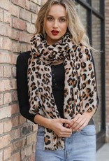 westbound clothing company leopard print woven scarf