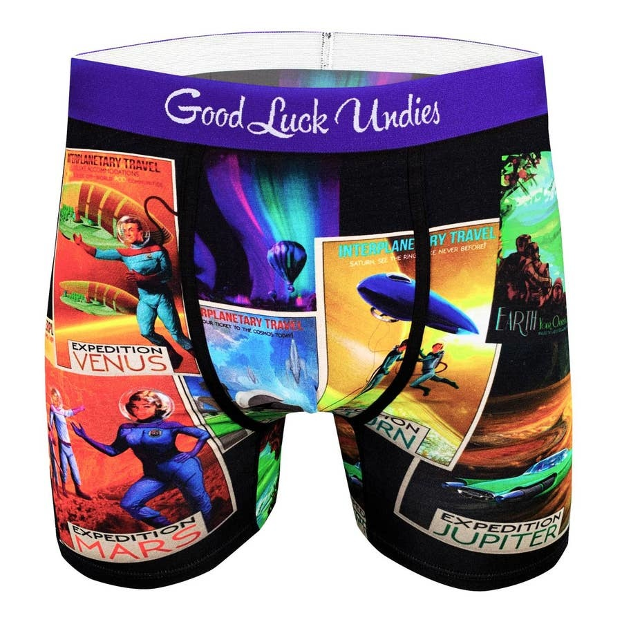 Good Luck Sock gl mens space tourism underwear