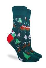 good luck socks gl santa on a sled