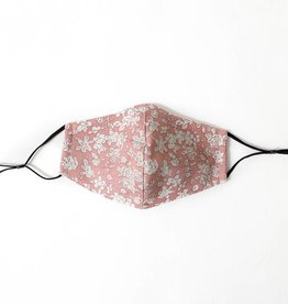 Pink Floral Mask: Fits Most