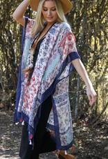 Leto Patchwork Kimono Navy