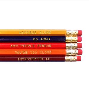Rhubarb Paper Co. Introvert's Pencil Set
