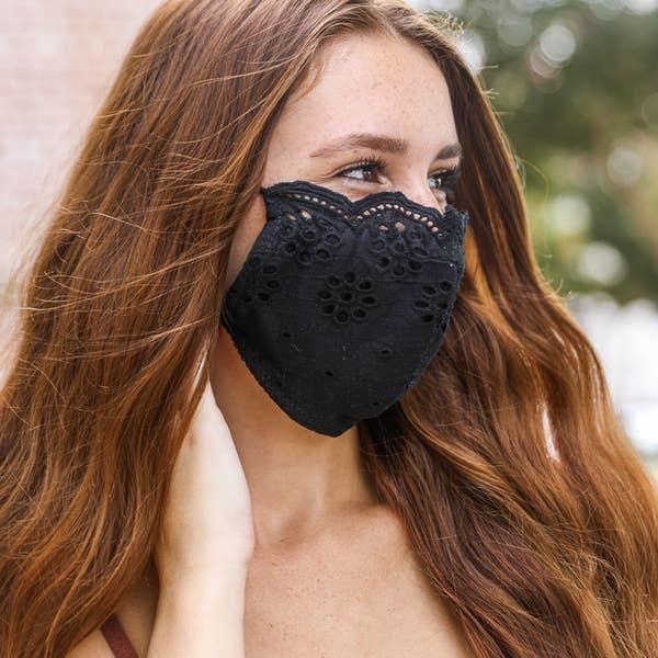 Black Eyelet Mask
