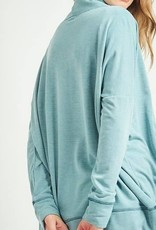 Mon Ami Long Sleeve Cardigan  Medium Dark Teal