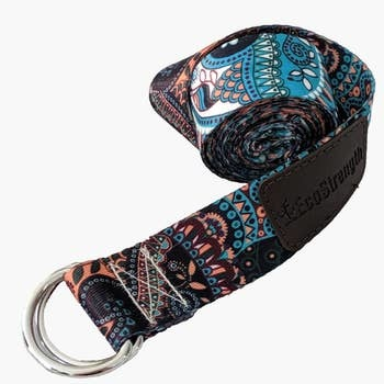 Eco Strength Eco Strength Yoga Strap Blue / Orange