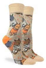 Good Luck Sock SWEATER CATS LADIES GLS
