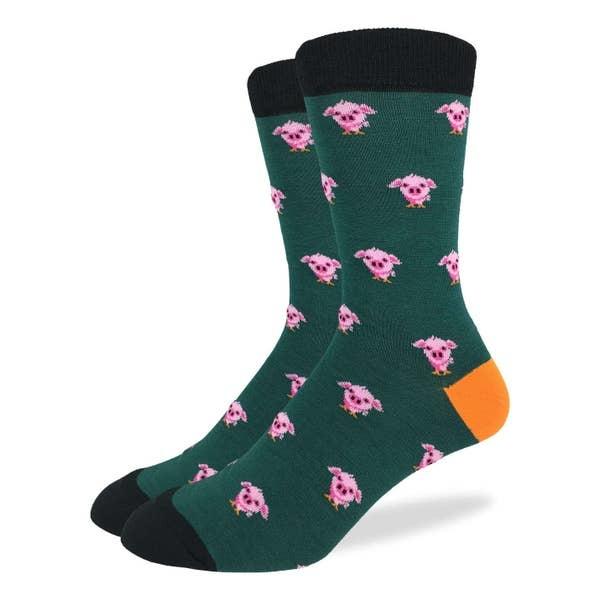 Good Luck Sock GREEN PIGS MENS GLS