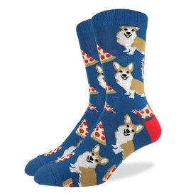 Good Luck Sock Corgi Pizza Sock, Mens, GLS
