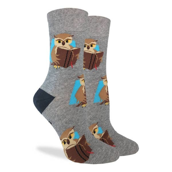Good Luck Sock BOOK OWL LADIES GLS