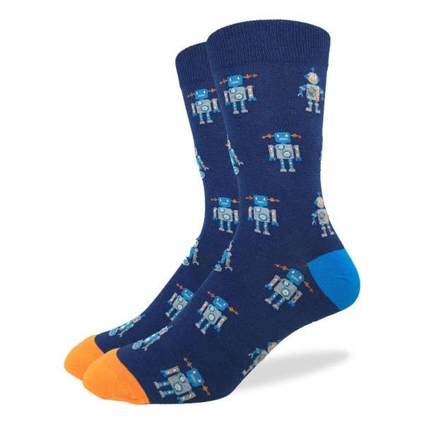 Good Luck Sock NAVY ROBOT SOCKS MENS GLS
