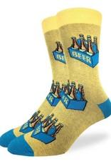 Good Luck Sock Six Pack of Beer Mens GLS