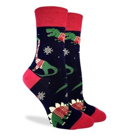 Good Luck Sock Dindosaurs Wearing XMas Sweaters GLS