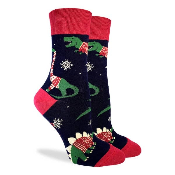Good Luck Sock Dindosaurs Wearing XMas Sweaters GLS