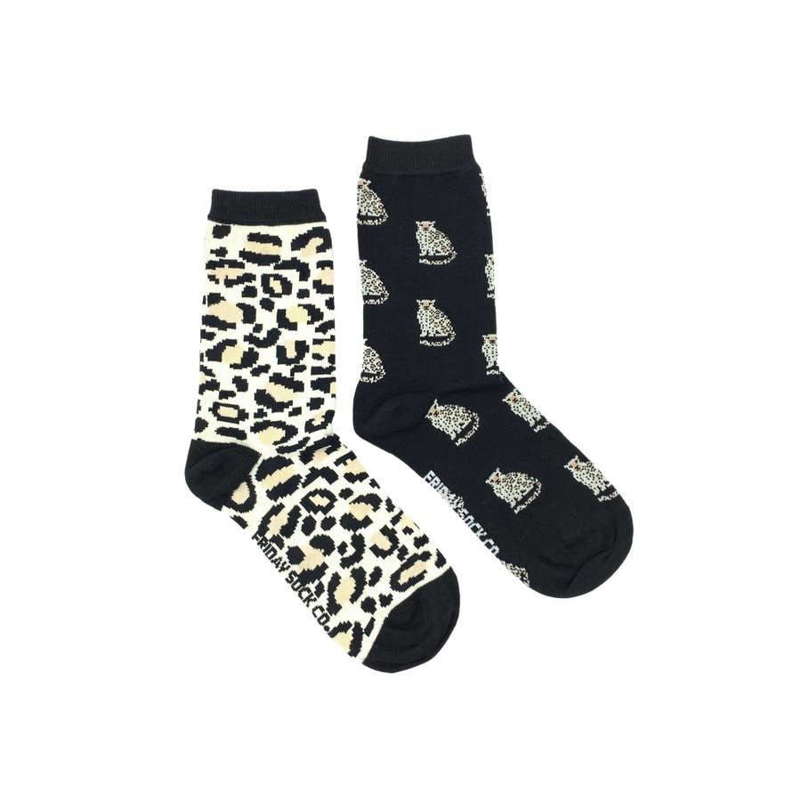 Friday Sock Company leopard& spots ladies friday