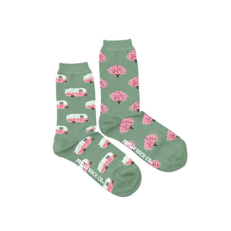 Friday Sock Company ladies rv and tree friday sock