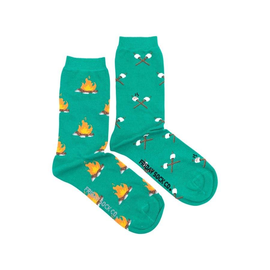 Friday Sock Company Campfire and Marshmallow Socks, Ladies