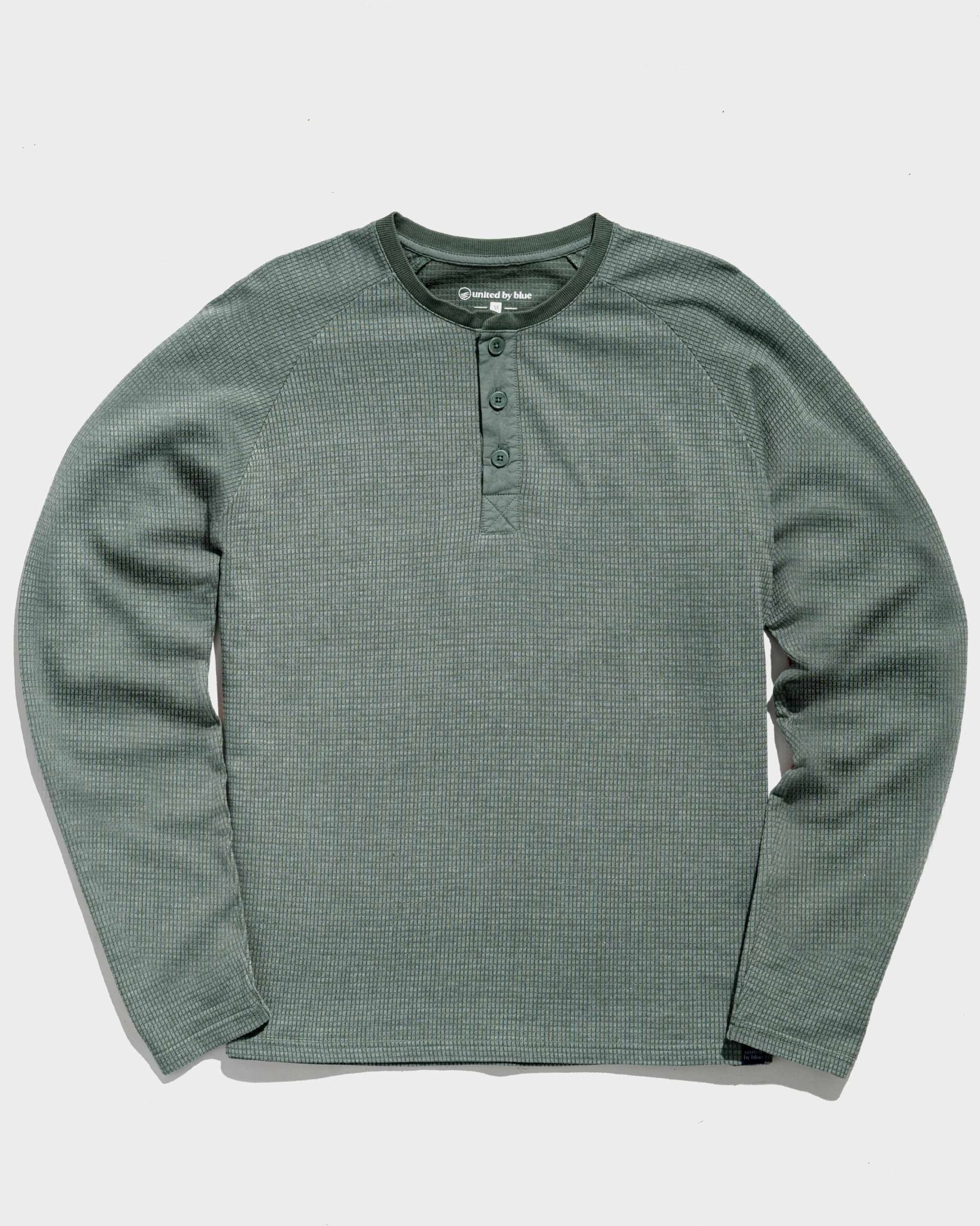United By Blue Mens Thermal Henley