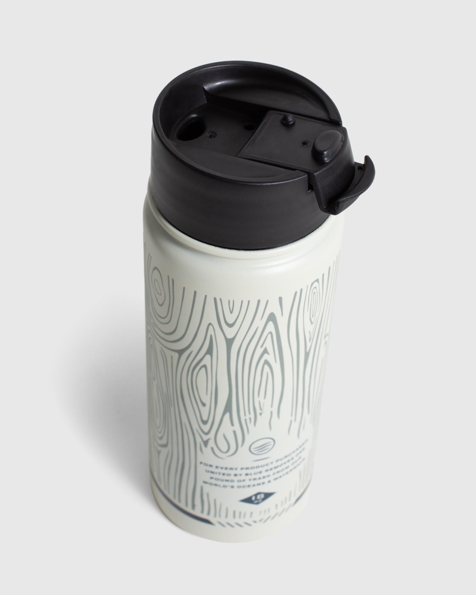 United By Blue Woodgrain, 18 oz, Travel Bottle