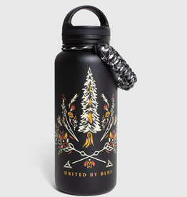 United By Blue Bloom Wildly, 32 oz, Stainless Steel Insulated Bottle