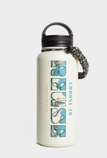 United By Blue Choose To Reuse, 32 oz, Stainless Steel Insulated Bottle