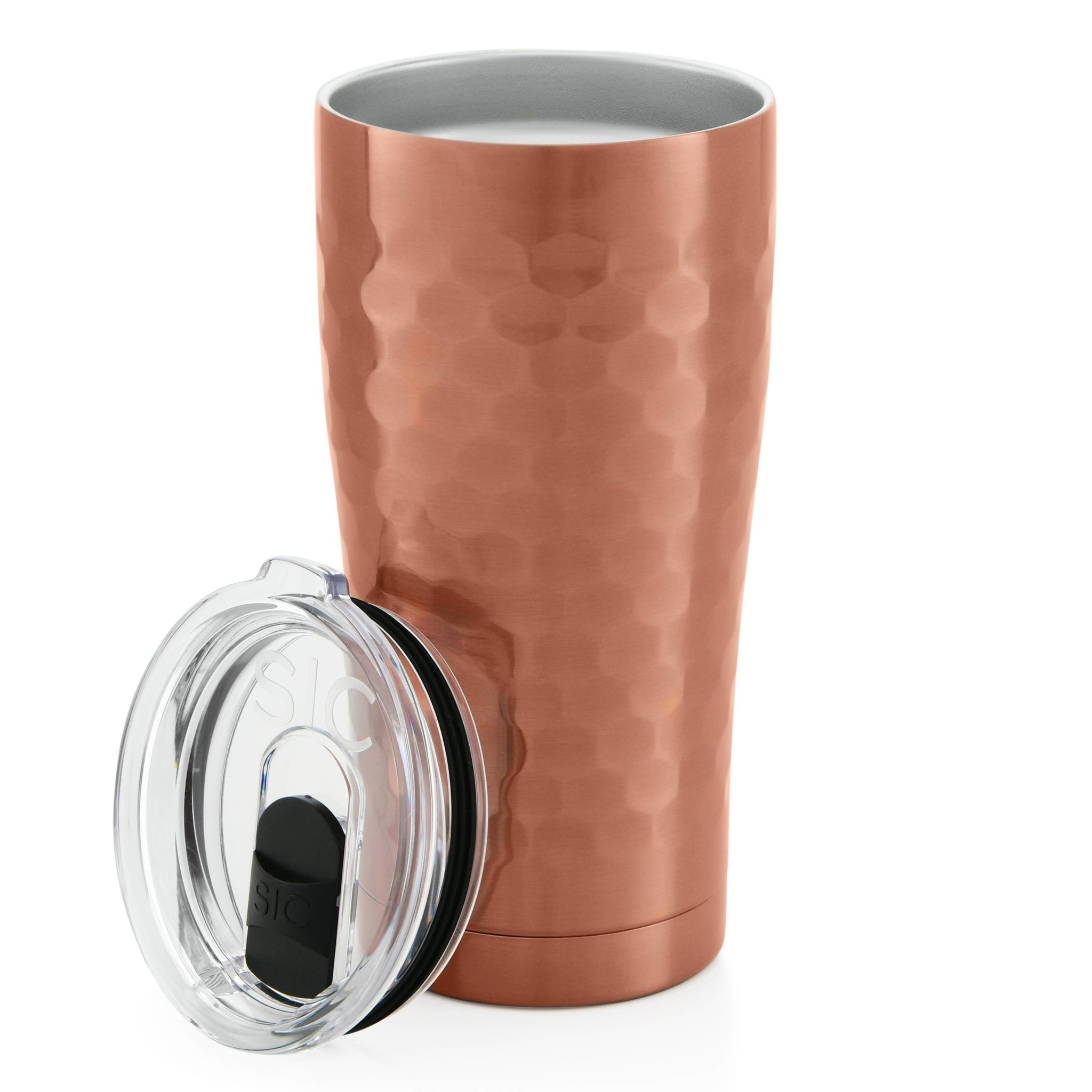 SIC 20 oz Hammered Copper Tumbler, Stainless Steel, SIC