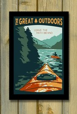 Lionhart Graphics leave the path kayaking  travel poster
