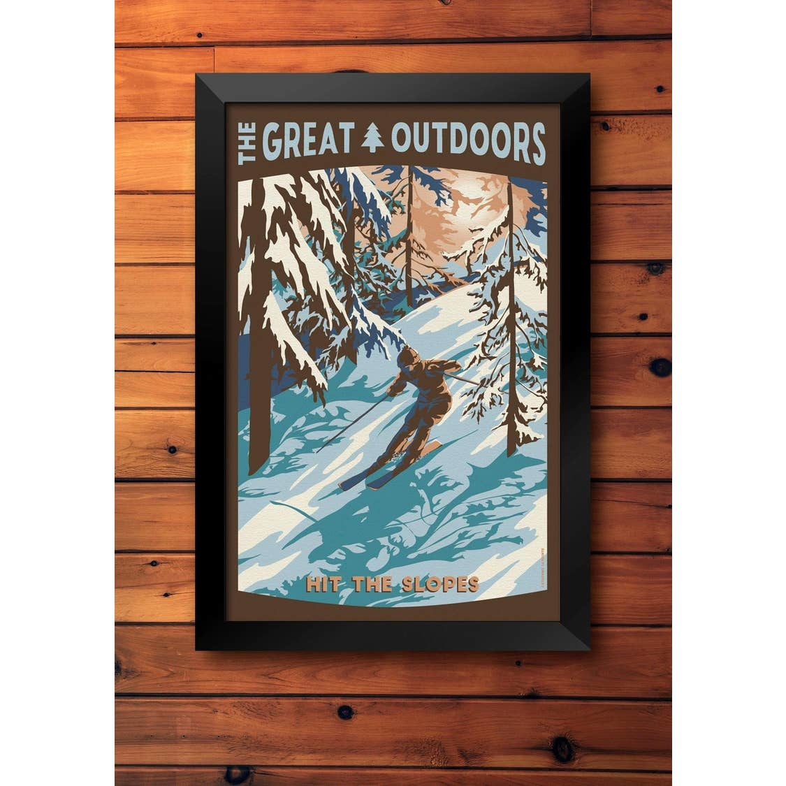 Lionhart Graphics hit the slopes travel poster