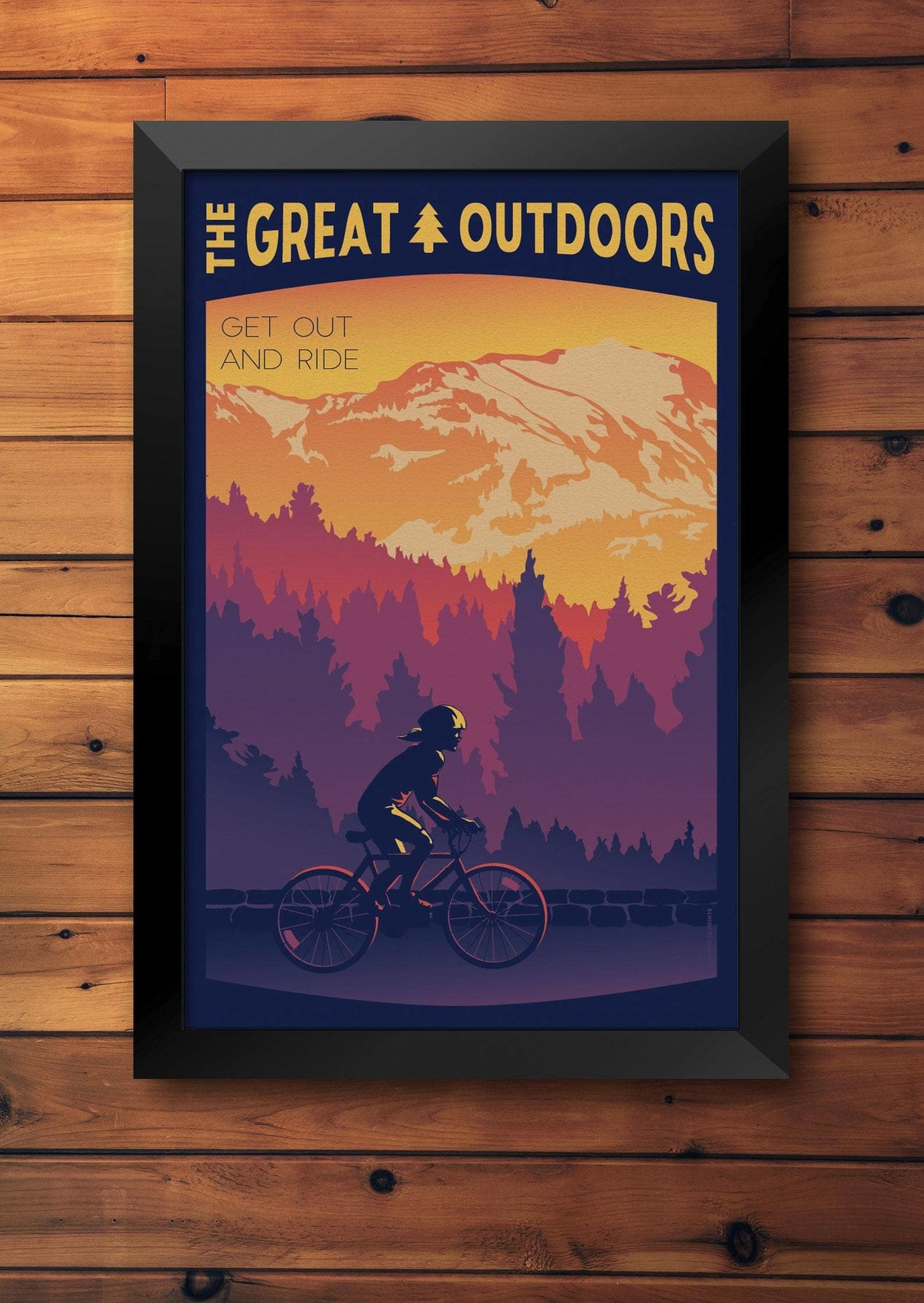 Lionhart Graphics get out and ride travel poster