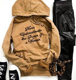 Costa Threads Power of women vintage wash hoodie