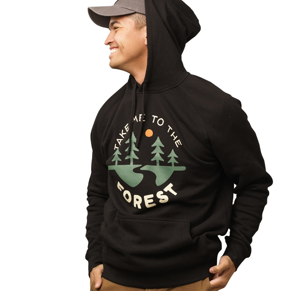 keep nature wild To The Forest- Hoodie Black