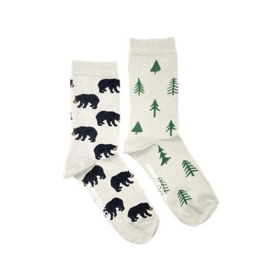 Friday Womens Socks Bear & Trees 5-10