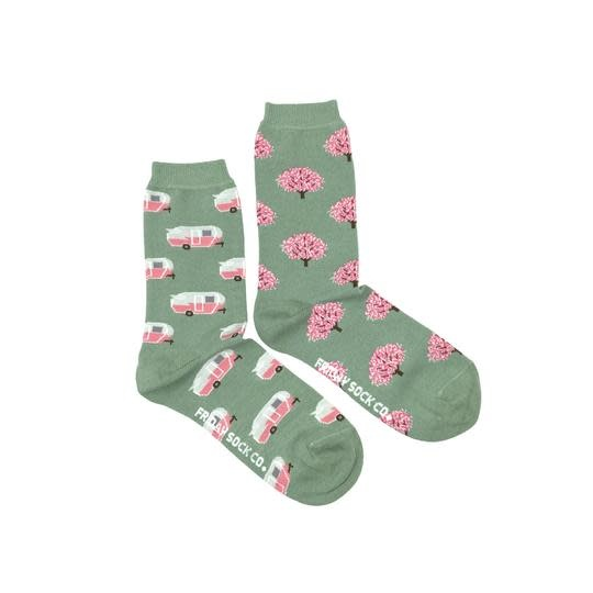 Friday Womens Socks RV & Tree 5-10