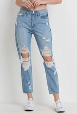 Just Black Denim -High Rise Super Destressed Jeans
