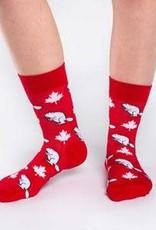 Good Luck Sock Womens Canada Beaver Socks 5-9