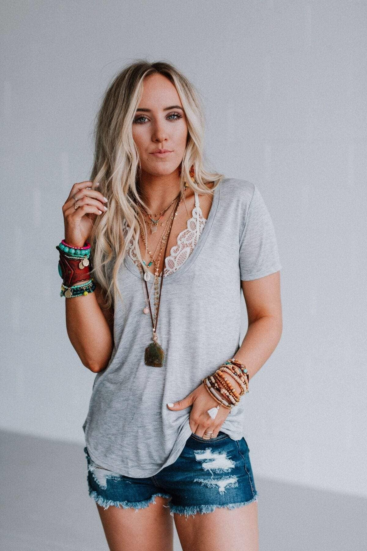 Three Bird Nest Scoop Neck Bralette Tee